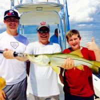 Check out this family outting with a nice size Tampa Bay snook!