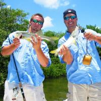 Pair of great looking Tampa Bay snook while on a summer time fishing charter