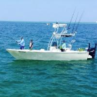 Capt Rich Andretta and crew hooked up to a enormous tarpon off Anna Maria island on a tarpon charter