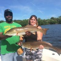Beautiful over slot redfish from the water of St Petersburg on this fishing charter